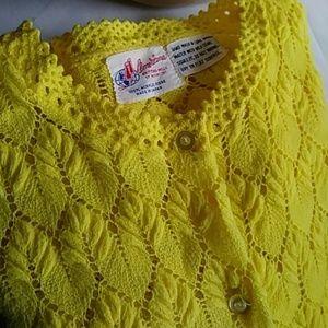 Vintage Americana knitting Mills Sunny yellow top